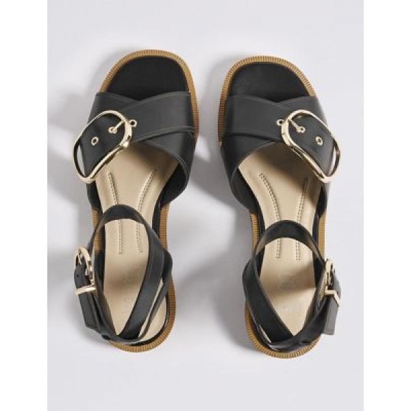 Кожаные босоножки сандалии marks & spencer