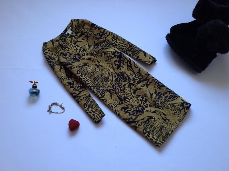 Платье длинный рукав h&m