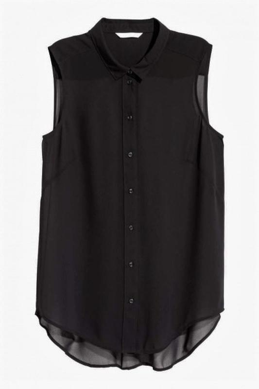 Акция до нового года! блуза рубашка майка безрукавка от h&m