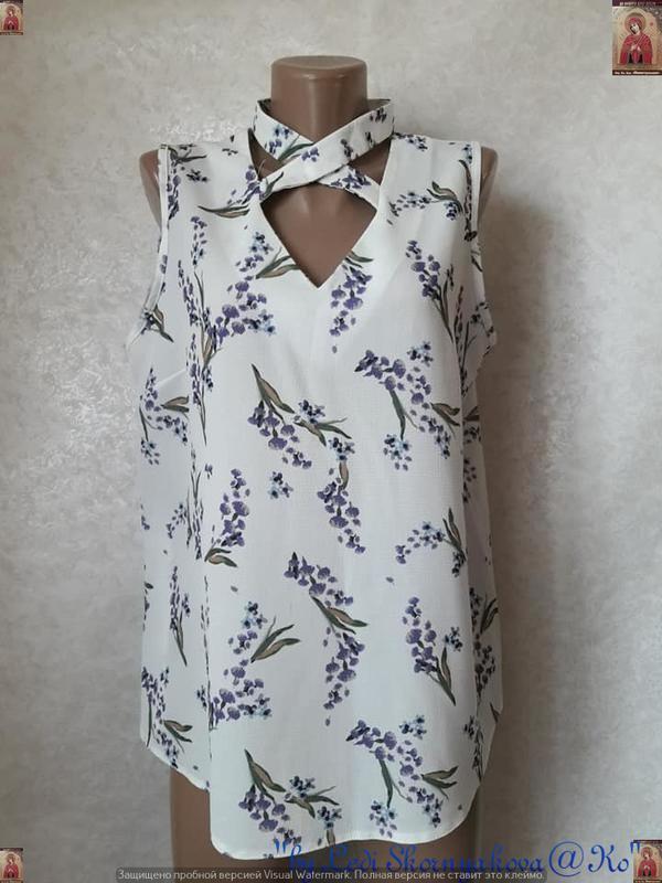 Новая фирменная select летняя блуза в цветочный принт чокером,...