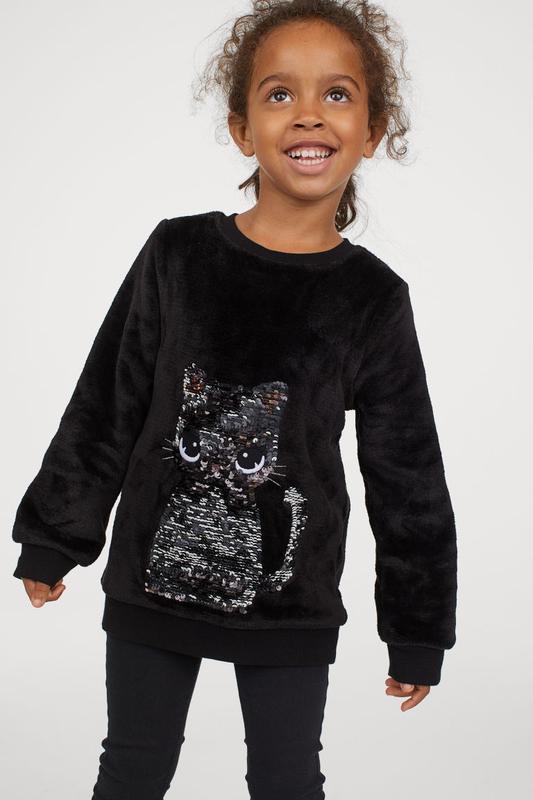 Меховушка свитер на девочку h&m киска