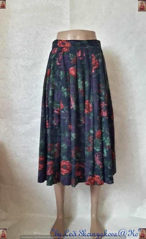 Фирменная richards юбка миди плиссе на 50%хлопок в шикарный цв...