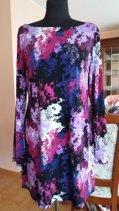 Яркое платье свободного кроя style and co.(сша),размер l
