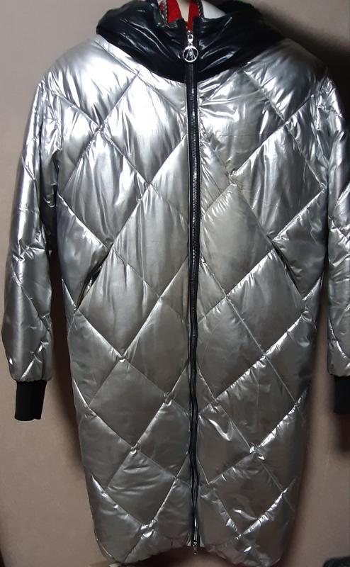 Отличная куртка серебро, s-m