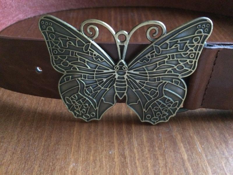 Ремень кожа бабочка