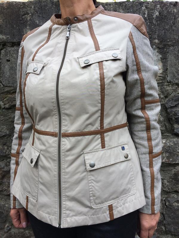 Обалденная комбинированная деми куртка от немецкого бренда dut...