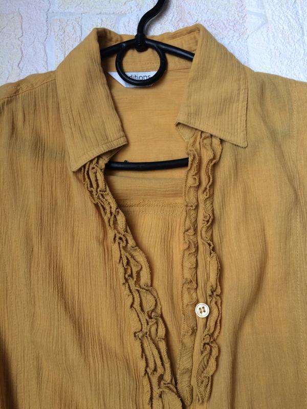 Блузка горчичного цвета editions