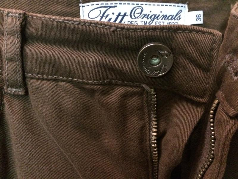 Брюки джинсовые коричневые p.-36