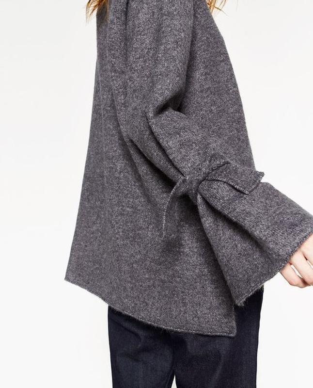 Тренд свитер оверсайз с завязками на рукавах от vero moda - Фото 6