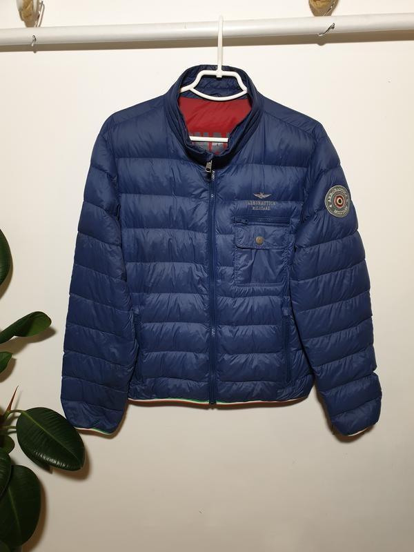 Легкая куртка пуховик пух/перо aeronautica militare