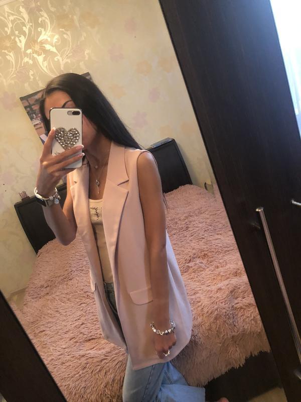 Пудровый жилет !!! new look 🎀🙈