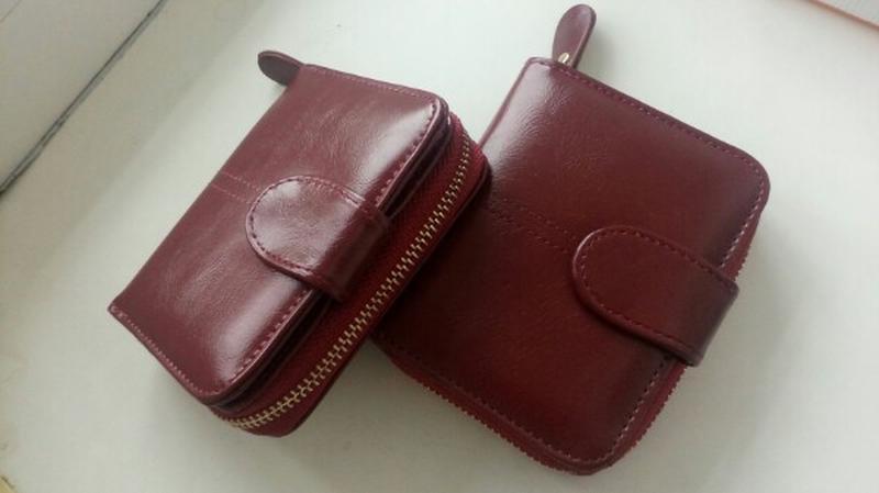 Женский кошелек жіночий гаманець бордо
