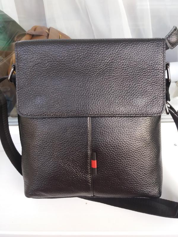 Мужская кожаная сумка из натуральной кожи