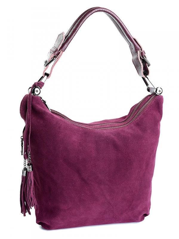 Кожаная женская сумка из натуральной кожи и натуральной замши....