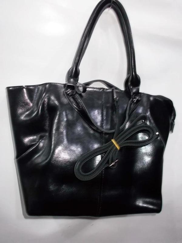 Женская большая кожаная сумка из натуральной кожи с женой шкир...