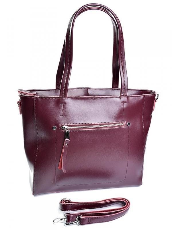 Женская кожаная сумка из натуральной кожи большая жіноча шкіря...