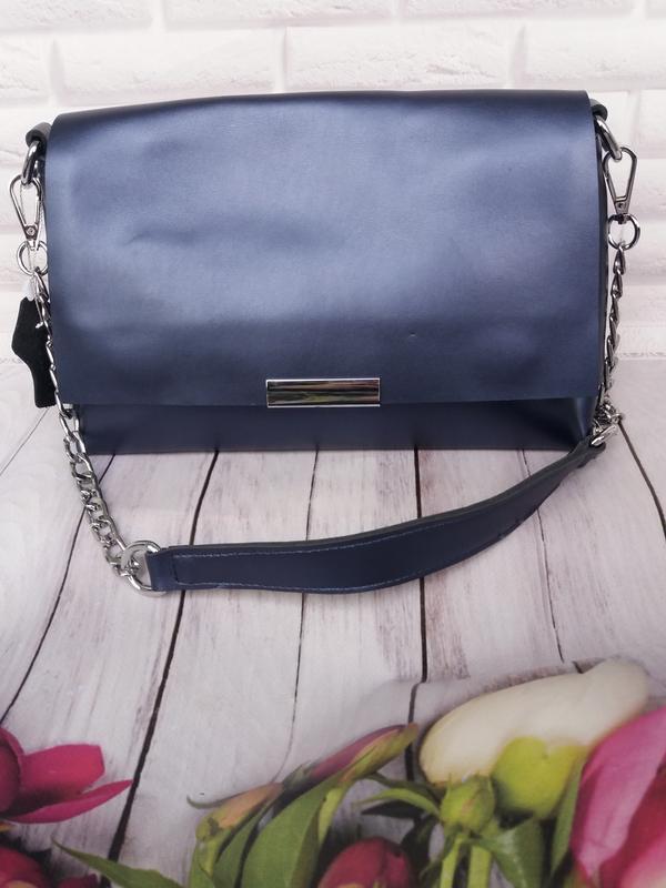 Женская кожаная сумка из натуральной кожи клатч кожаный жіночи...