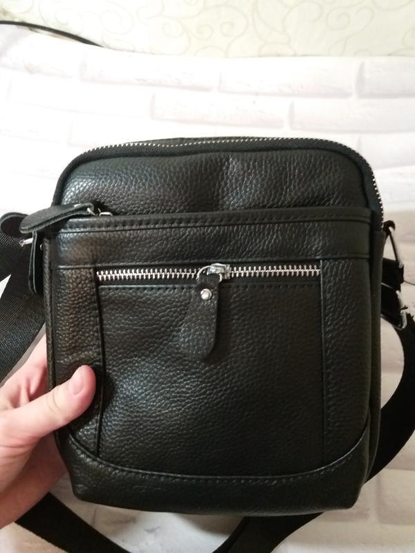 Кожаная мужская сумка из натуральной кожи