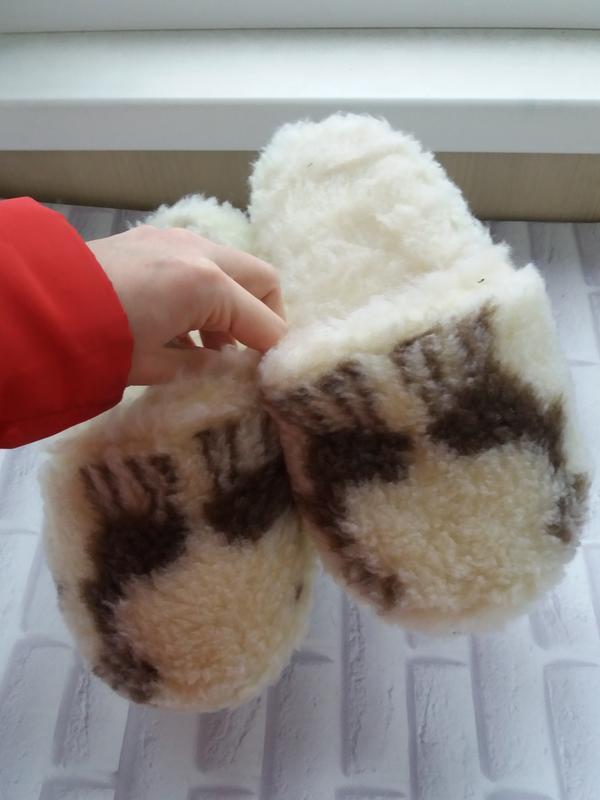 Тапочки для дома из натуральной овчины тапки домашні домашние