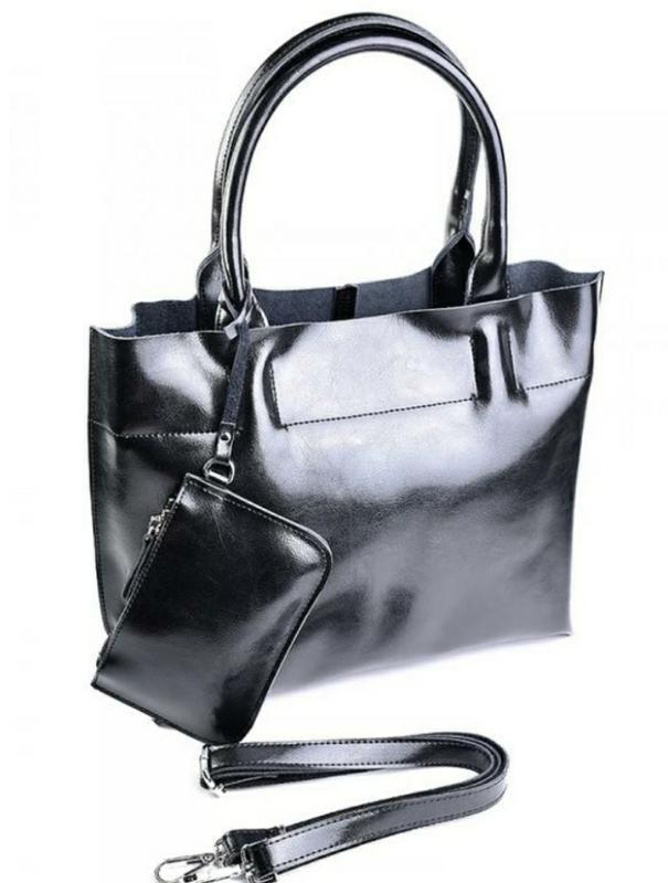 Женская кожаная большая сумка из натуральной кожи шкіряна жіно...