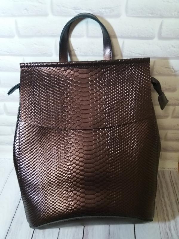 Женский кожаный рюкзак тз натуральной кожи шкіряний жіночий су...