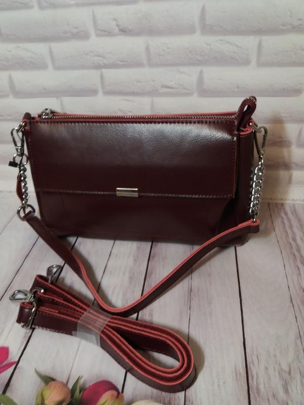 Женская кожаная сумка из натуральной кожи шкіряна жіноча клатч...
