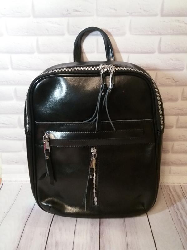 Кожаный рюкзак сумка трансформер из натуральной кожи кожаная ж...