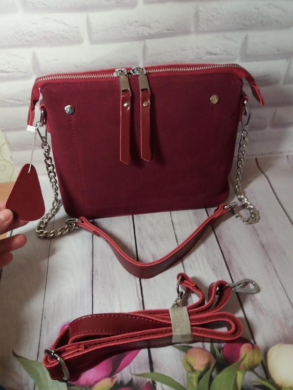 Натуральная кожаная сумка клатч кожаный женский женская шкірян...