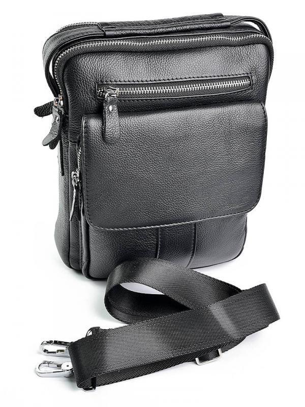 Мужская кожаная сумка из натуральной кожи на плечо в руку  чол...