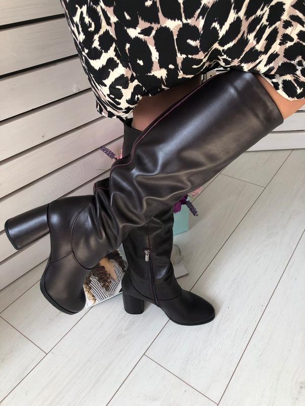 Lux обувь!😍кожаные натуральные зимние высокие сапоги на удобно...