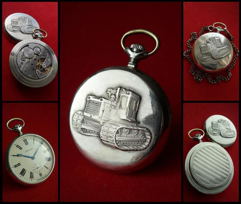 часы МОЛНИЯ-ТРАКТОР, СССР 70-х. МУЖСКИЕ карманные часы