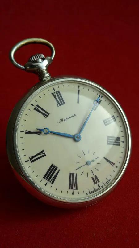 Часы МОЛНИЯ-ТРАКТОР, СССР 70-х. МУЖСКИЕ карманные часы - Фото 2