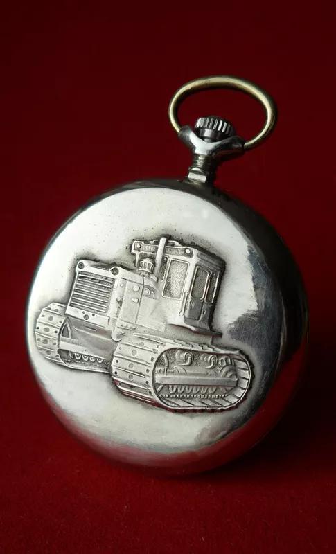 Часы МОЛНИЯ-ТРАКТОР, СССР 70-х. МУЖСКИЕ карманные часы - Фото 4