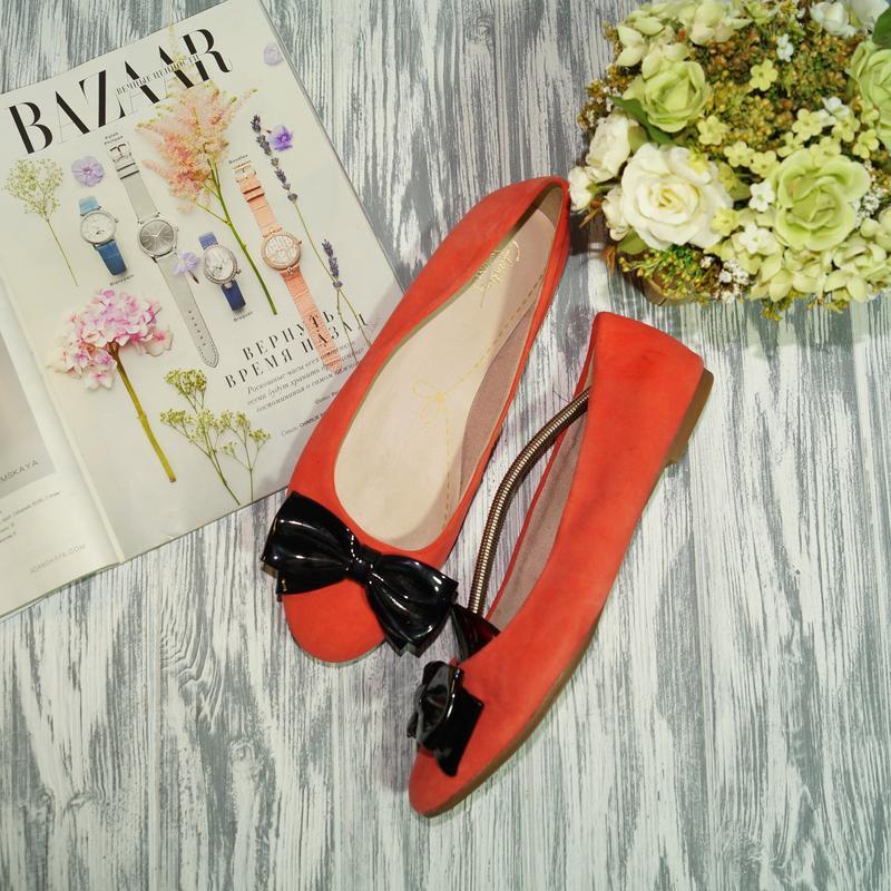 🌿бесплатная доставка 🌿clarks. замша. красивые туфли, балетки н...