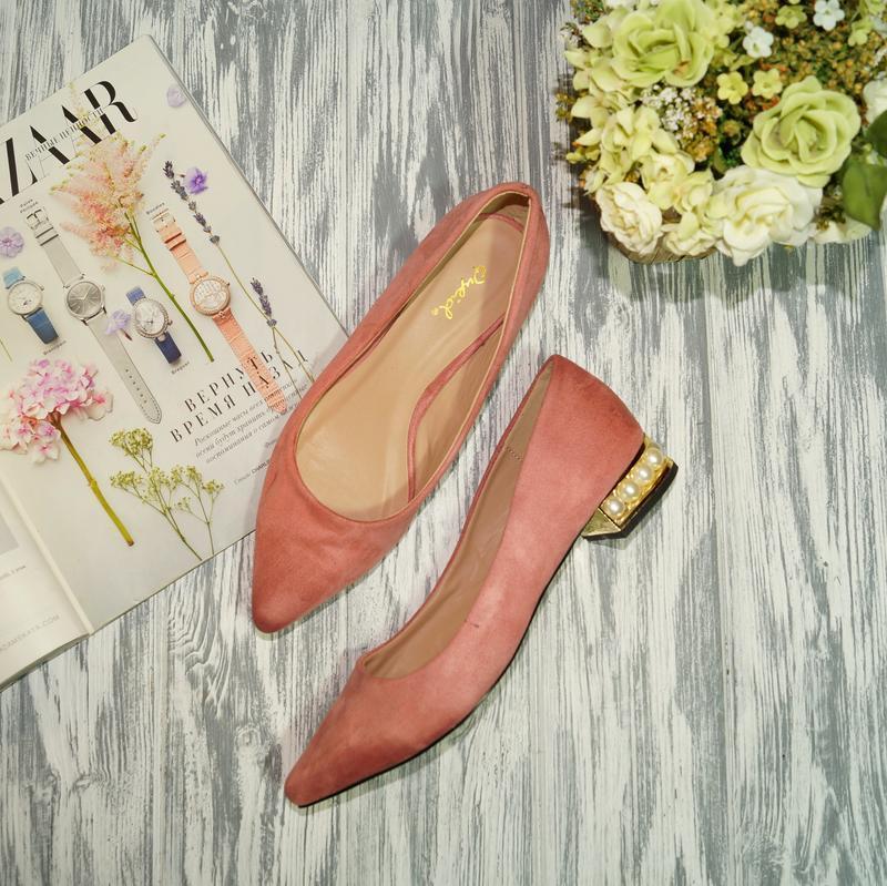 🌿бесплатная доставка 🌿qylid. красивые туфли лодочки на низком ...