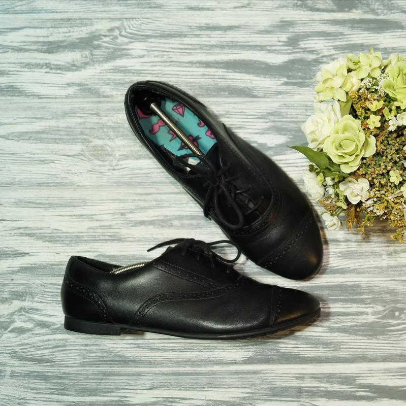 🌿бесплатная доставка🌿41🌿clarks. кожа. комфортные туфли, оксфорды