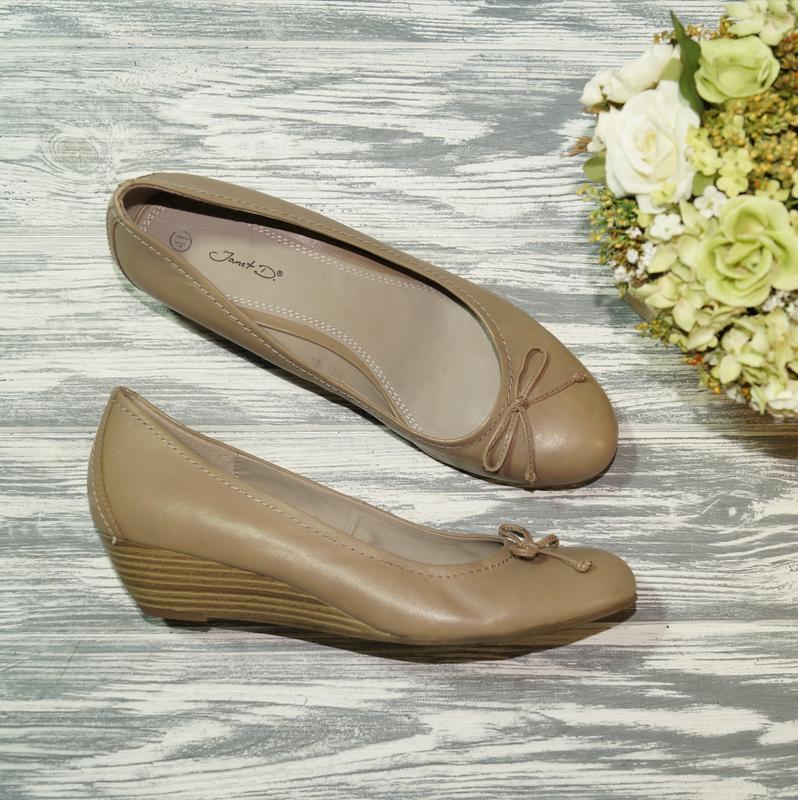 🌿бесплатная доставка🌿41🌿janet d. кожа. фирменные базовые туфли...