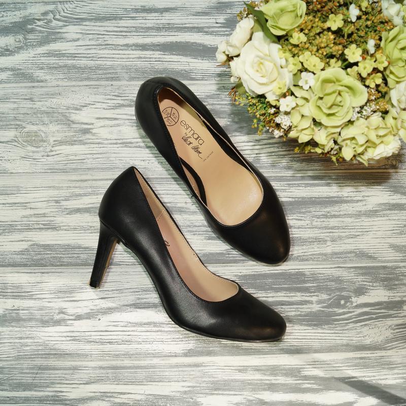 🌿бесплатная доставка🌿36🌿 esmara. кожа. базовые туфли лодочки