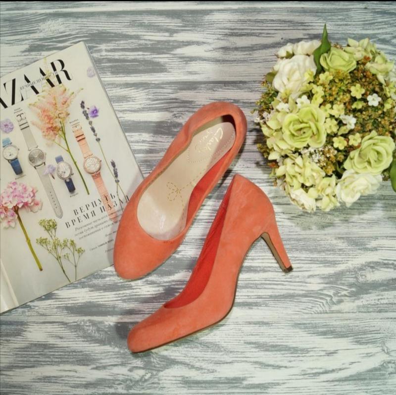 🌿бесплатная доставка🌿37🌿clarks. замша. красивые фирменные туфли