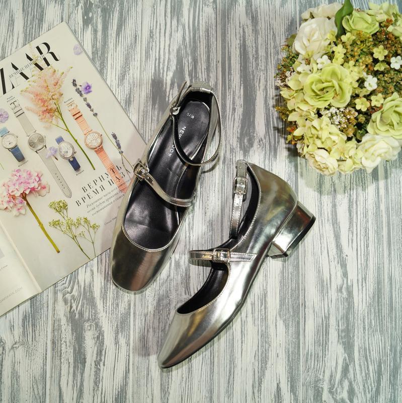 🌿бесплатная доставка🌿38🌿new look. фирменные туфли на низком ходу