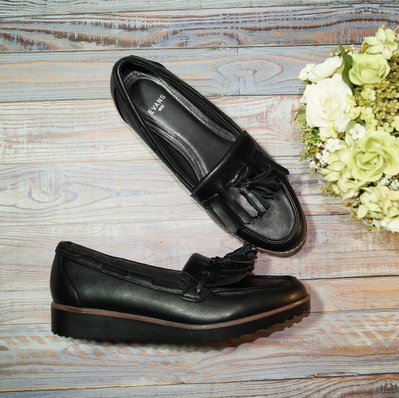 🌿бесплатная доставка🌿38🌿evans. стильные туфли, лоферы