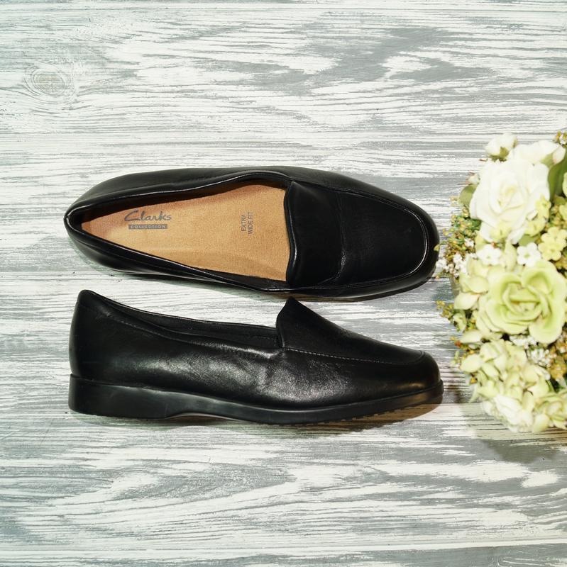 🌿39🌿clarks. кожа. качественные комфортные туфли на низком ходу