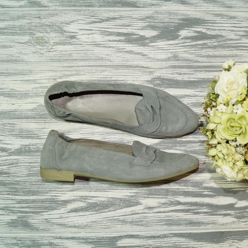 🌿40🌿luftpolster. замша. стильные фирменные туфли лодочки, лоферы