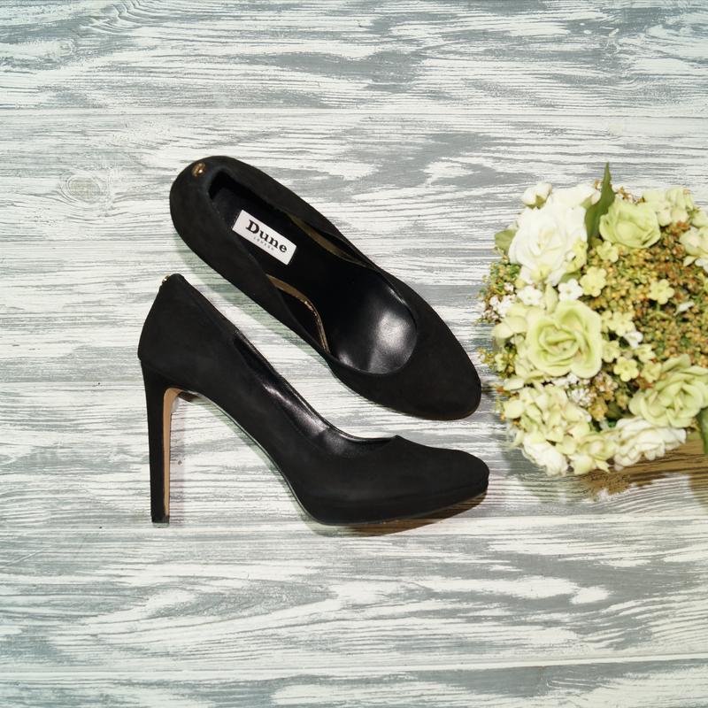 🌿40🌿dune. замша. красивые базовые туфли на устойчивом каблуке