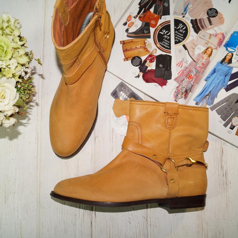 🌿40🌿reseved. кожа. стильные фирменные ботинки на низком ходу