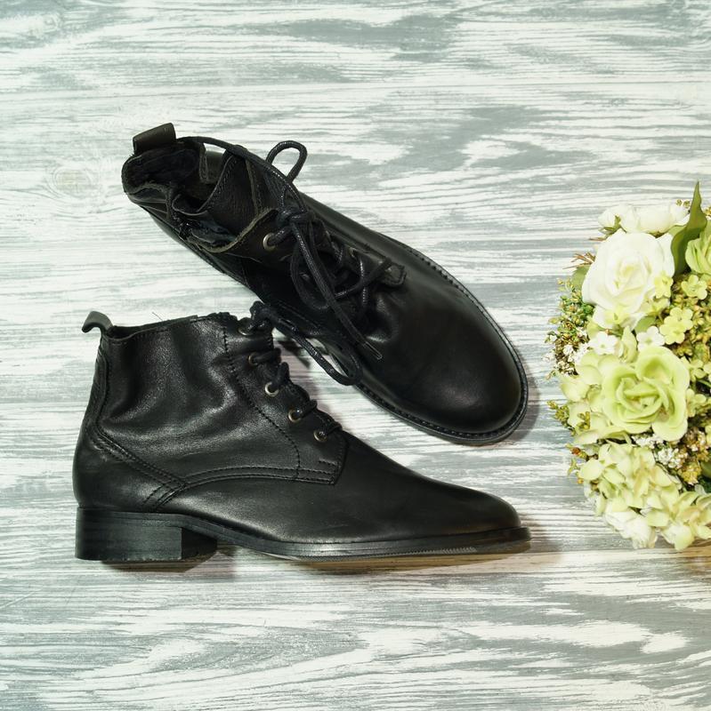🌿40🌿noiz. кожа. роскошные ботинки на низком ходу