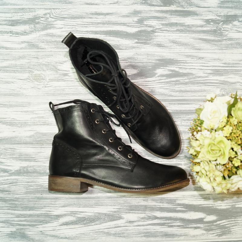 🌿42🌿kiomi. кожа. стильные ботинки на низком ходу