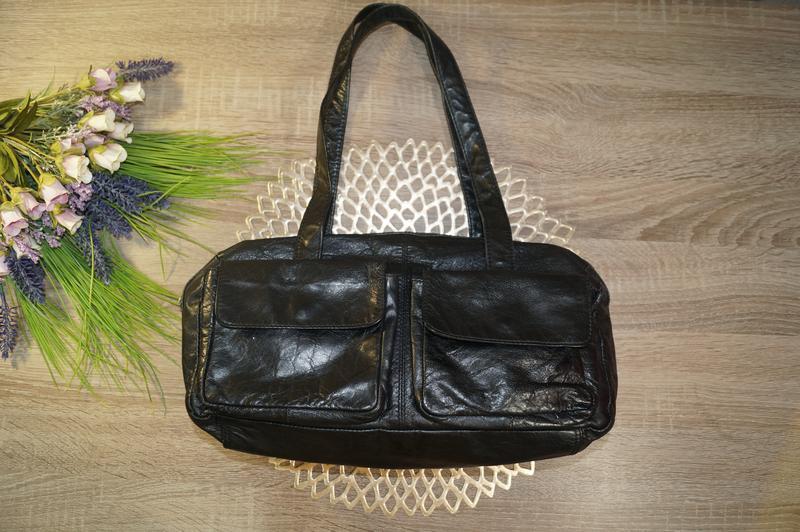 Mango! кожа! стильная фирменная сумка бочонок