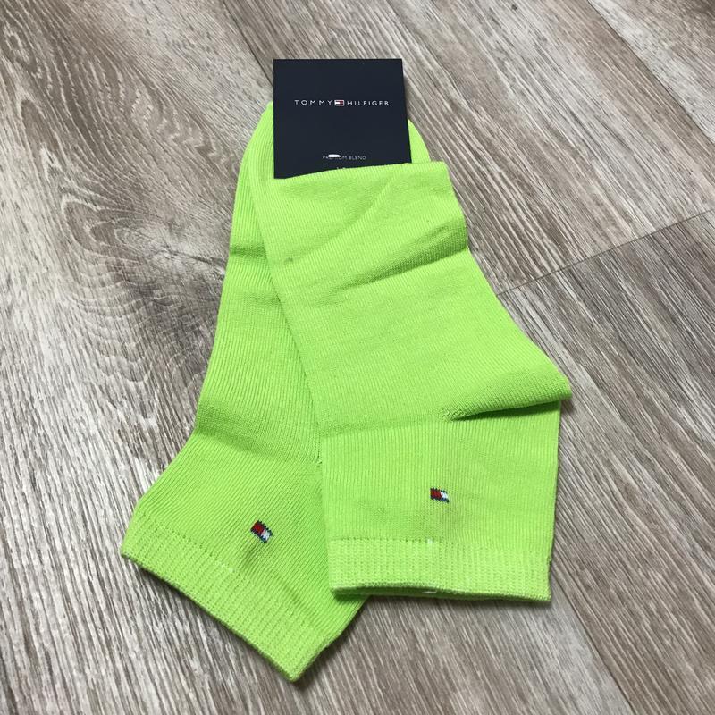 Яркие салатовый носки tommy hilfiger