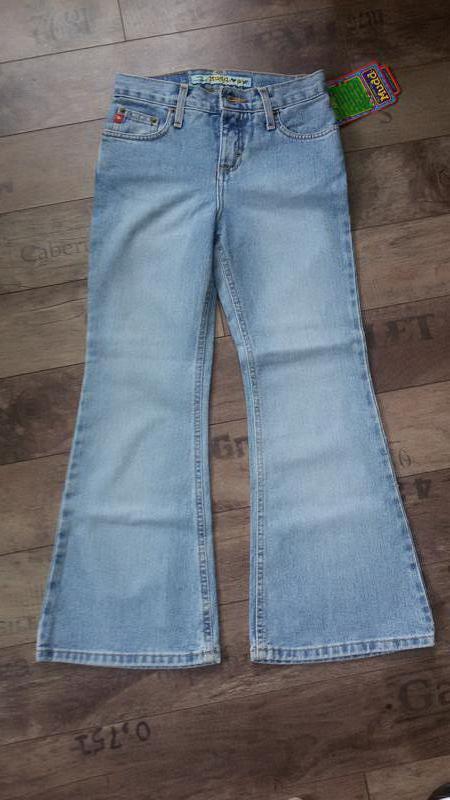 Распродажа! стильные джинсы, клеш. светло-голубой цвет - Фото 3